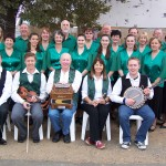 Irish dancers and band group photo