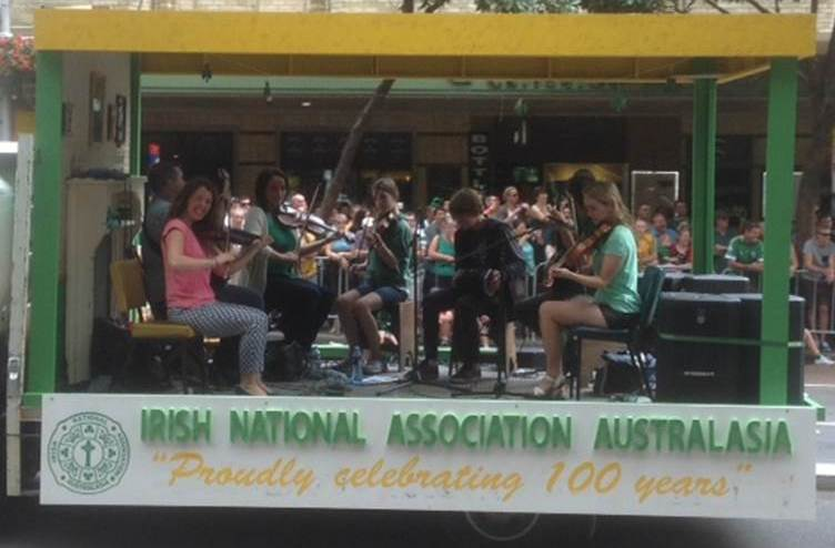 INA Float at St Patrick's day parade